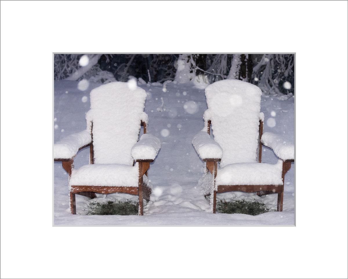 Matted 5x7 Photo: Snowy Adirondacks