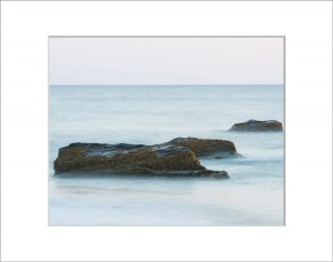 Matted 8x10 Photo: Aquinnah 3 Rocks