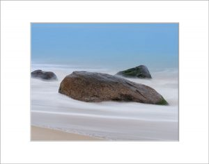 Matted 8x10 Photo: Aquinnah Beach, Rocks, Sand