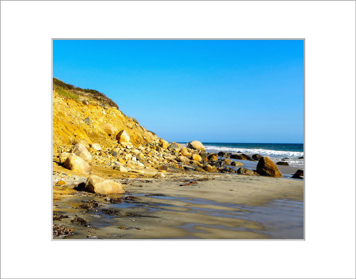 Matted 8x10 Photo: Aquinnah Cliffs and Beach