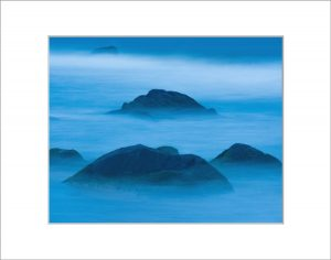 Matted 8x10 Photo: Blue Rocks
