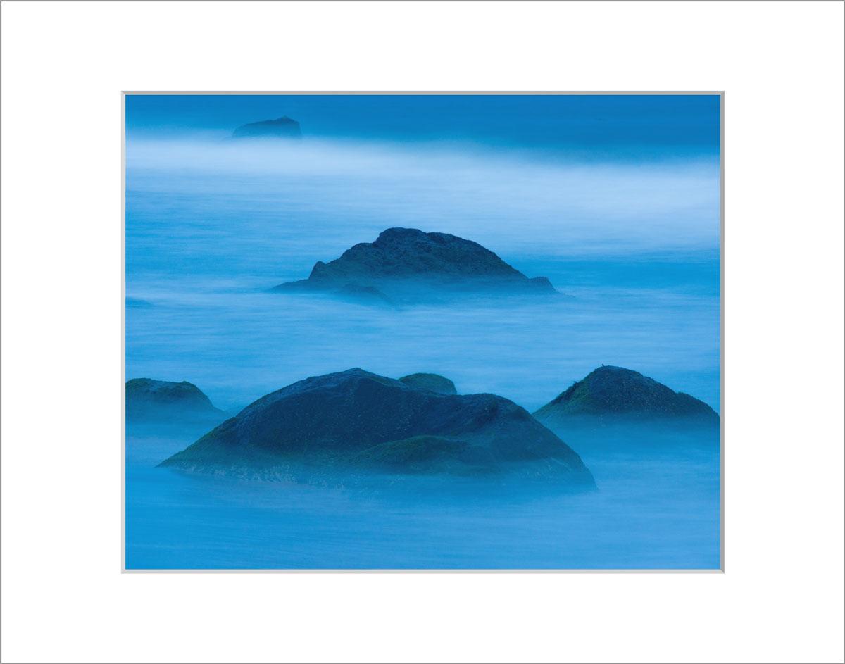Matted 8x10 Photo: Blue Rocks