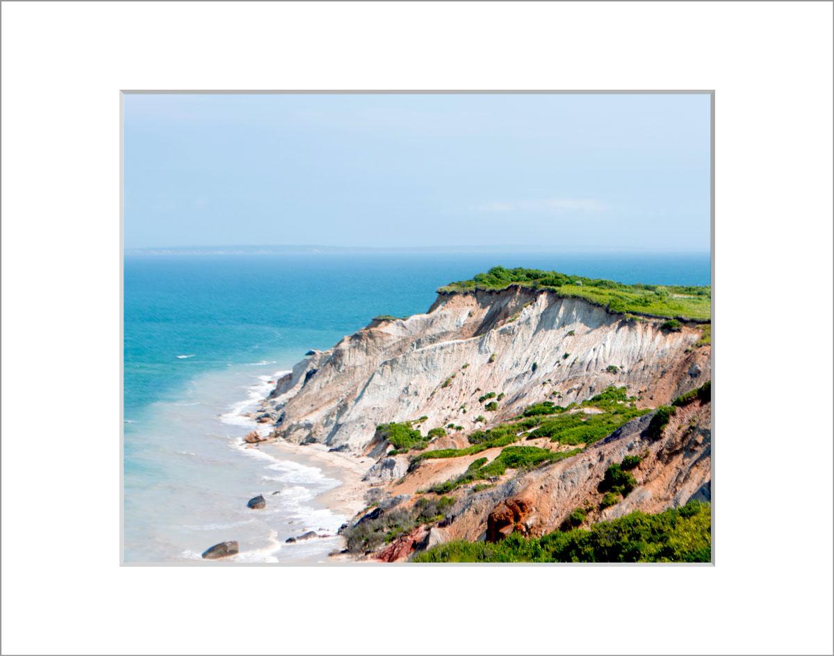 Matted 8x10 Photo: Gay Head Cliffs 2