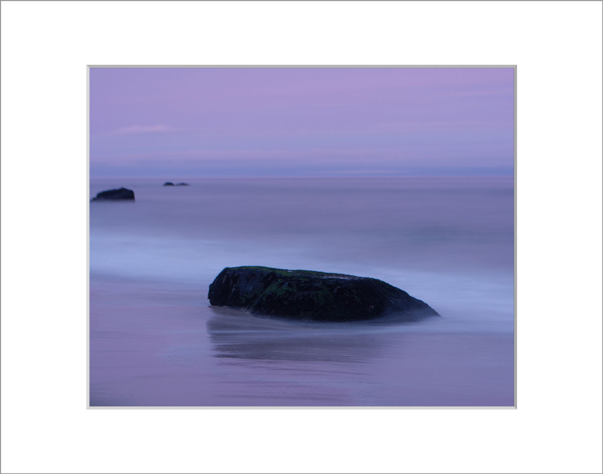 Matted 8x10 Photo: Lucy Vincent Beach Purple Rocks