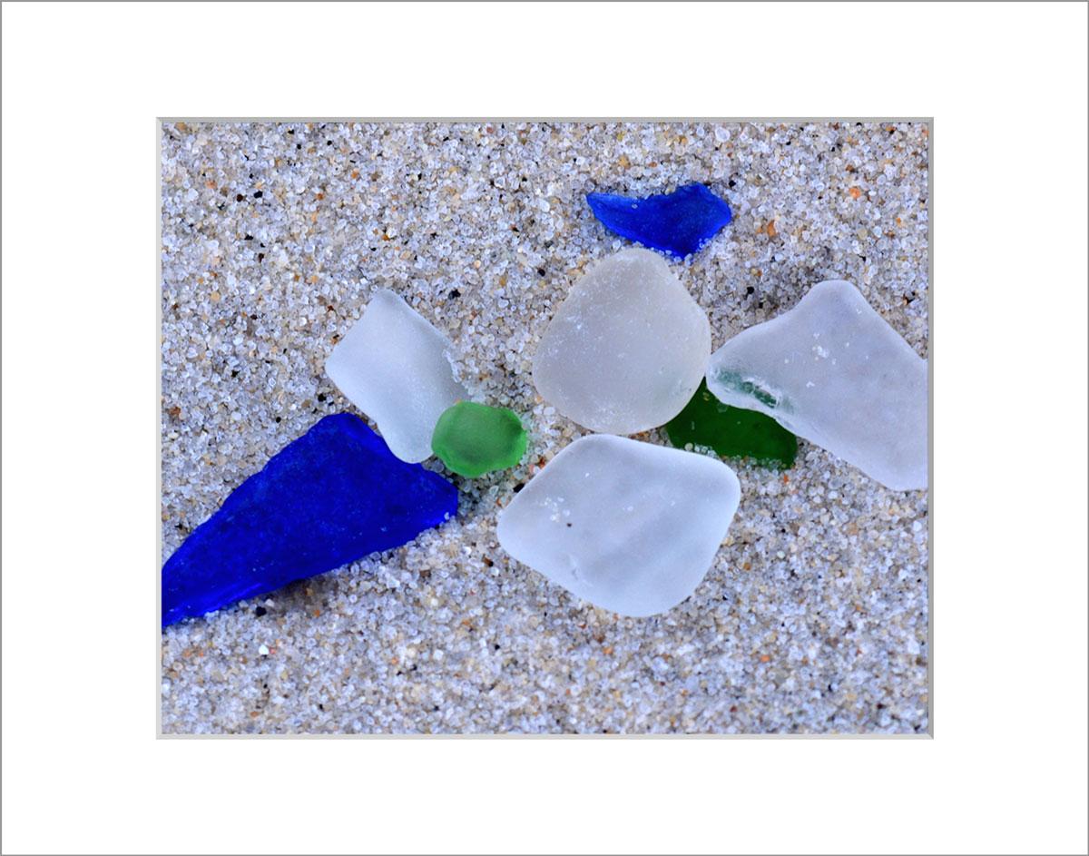 Matted 8x10 Photo: Sea Glass