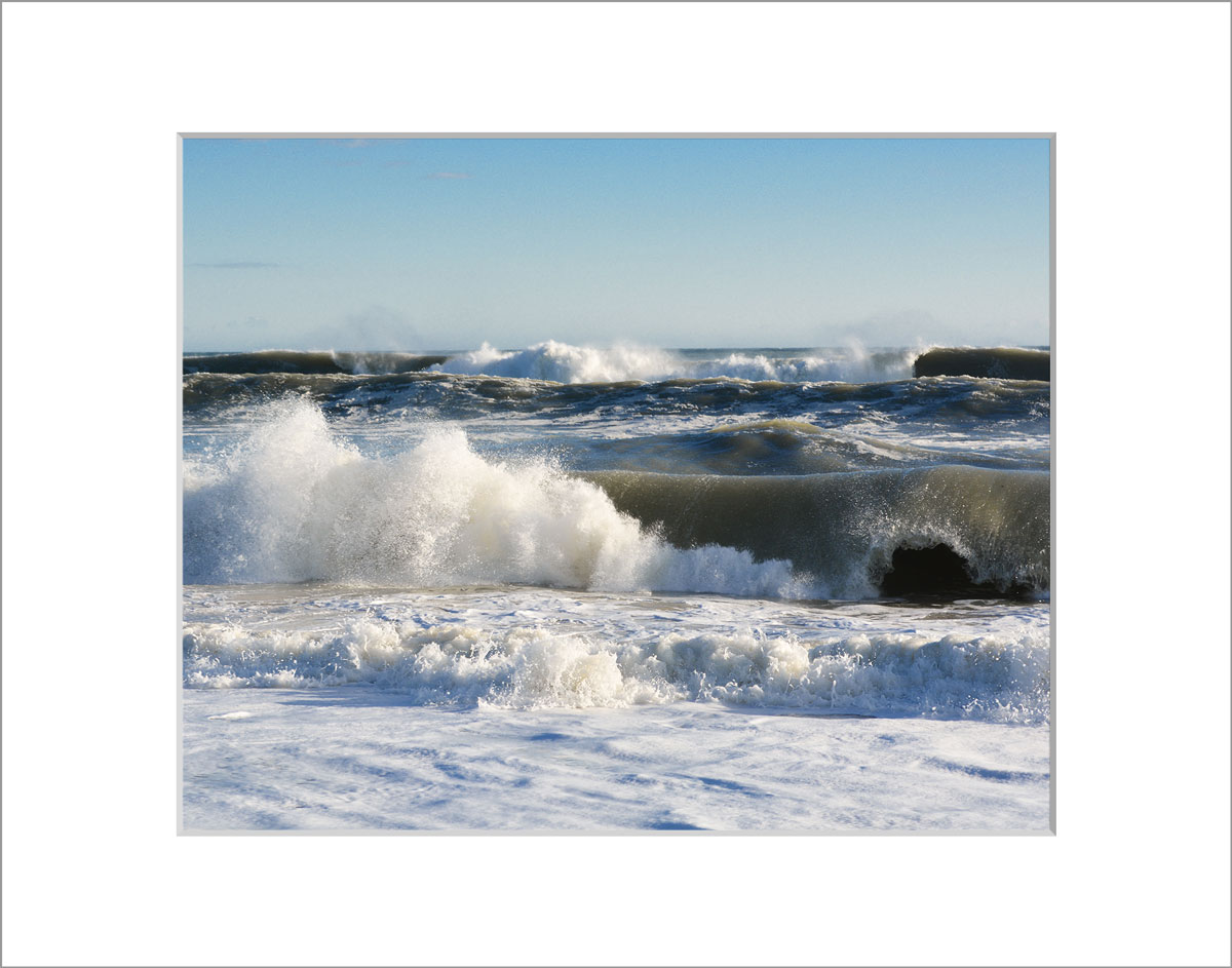 Matted 8x10 Photo: South Beach Waves