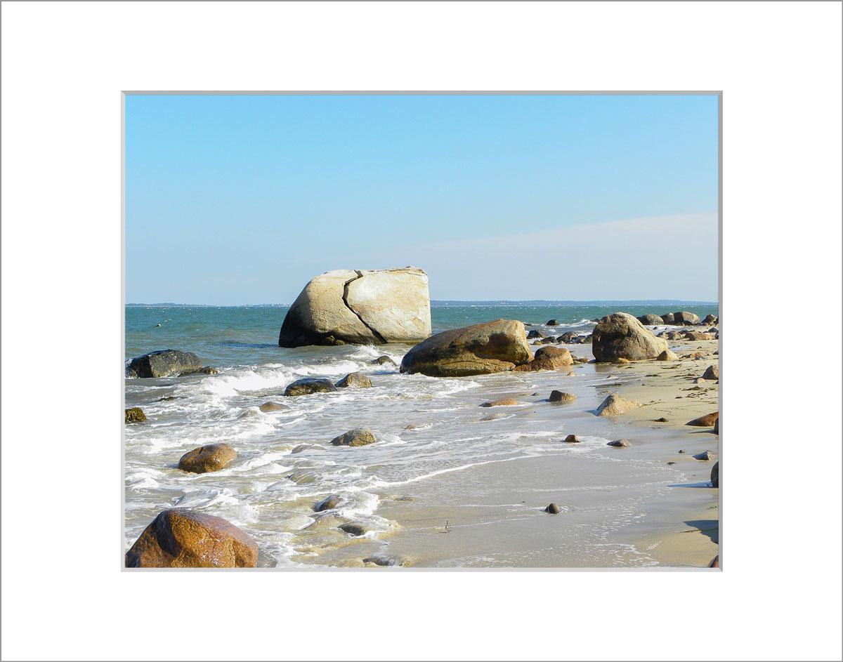 Matted 8x10 Photo: Split Rock Small