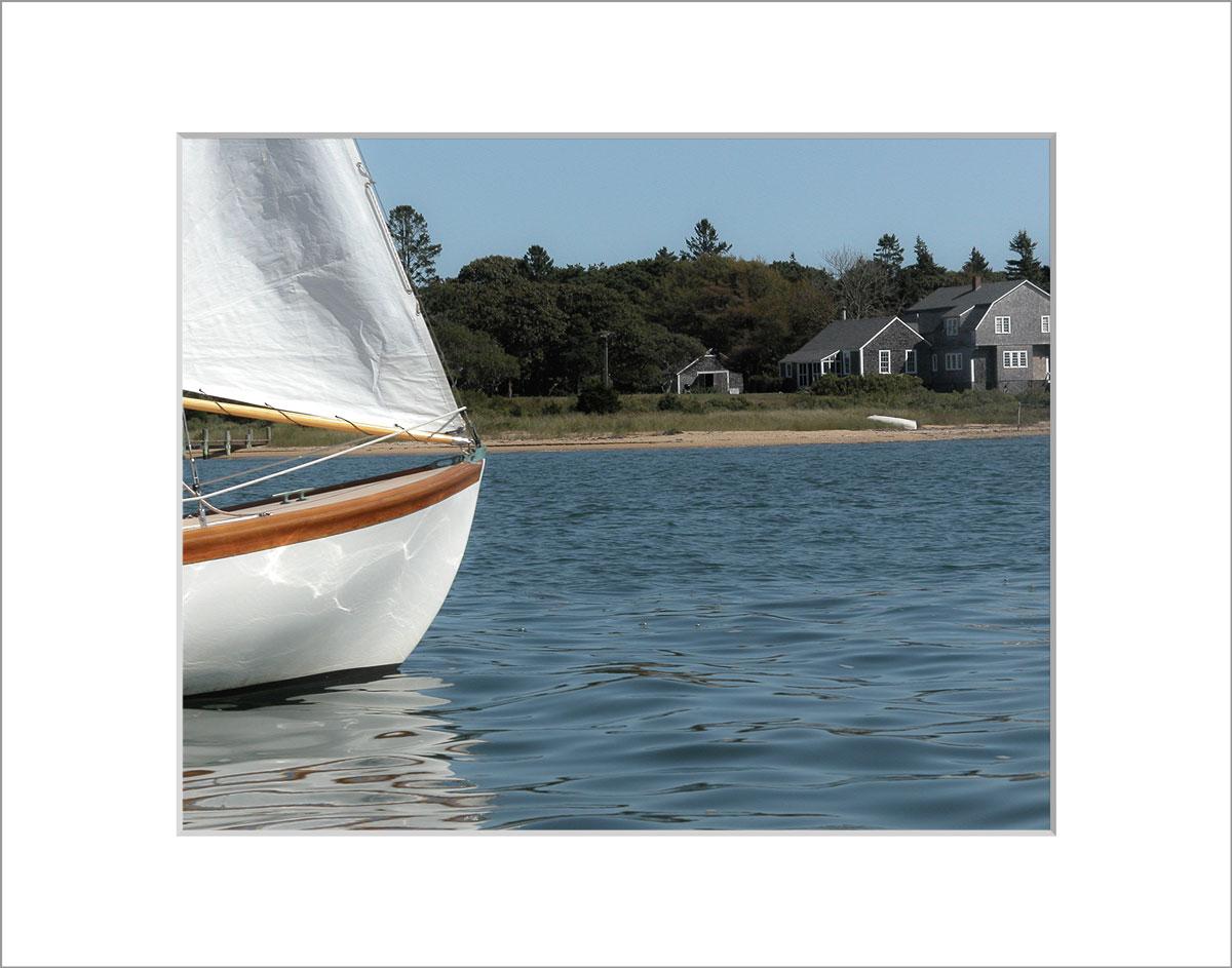 Matted 8x10 Photo: Edgartown Sailboat