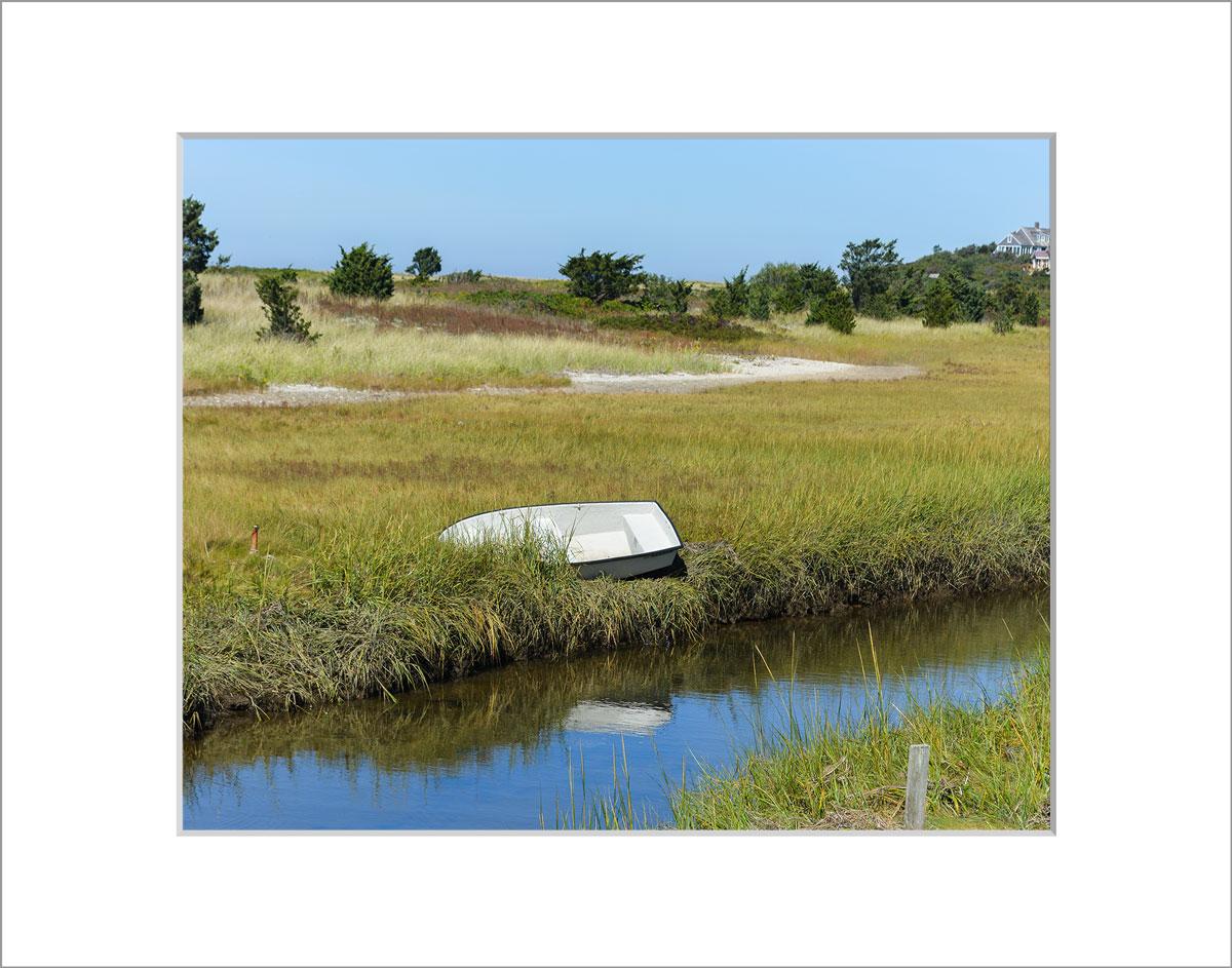 Matted 8x10 Photo: Menemsha Rowboat