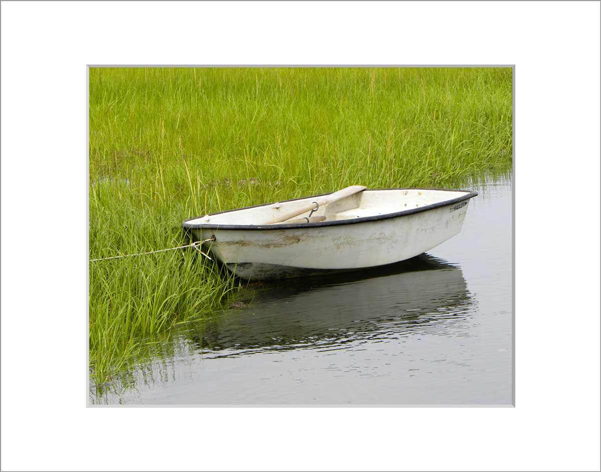Matted 8x10 Photo: Menemsha White Boat
