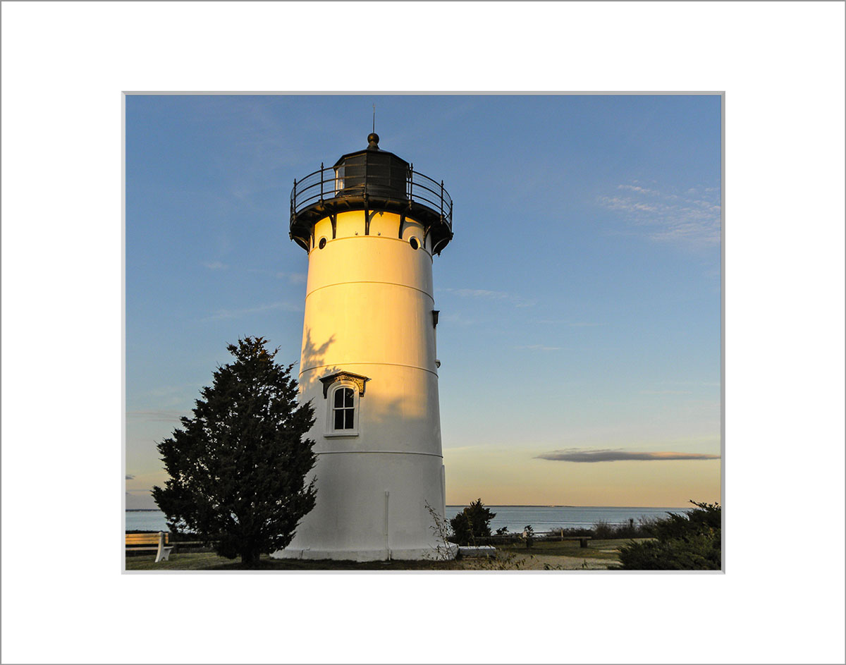 Matted 8x10 Photo: East Chop Lighthouse