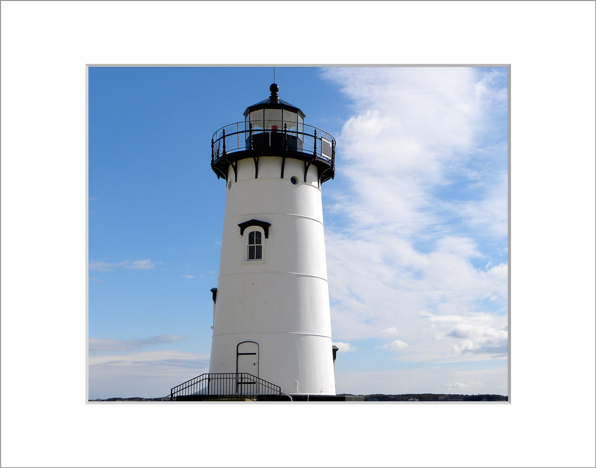 Matted 8x10 Photo: Edgatown Lighthouse