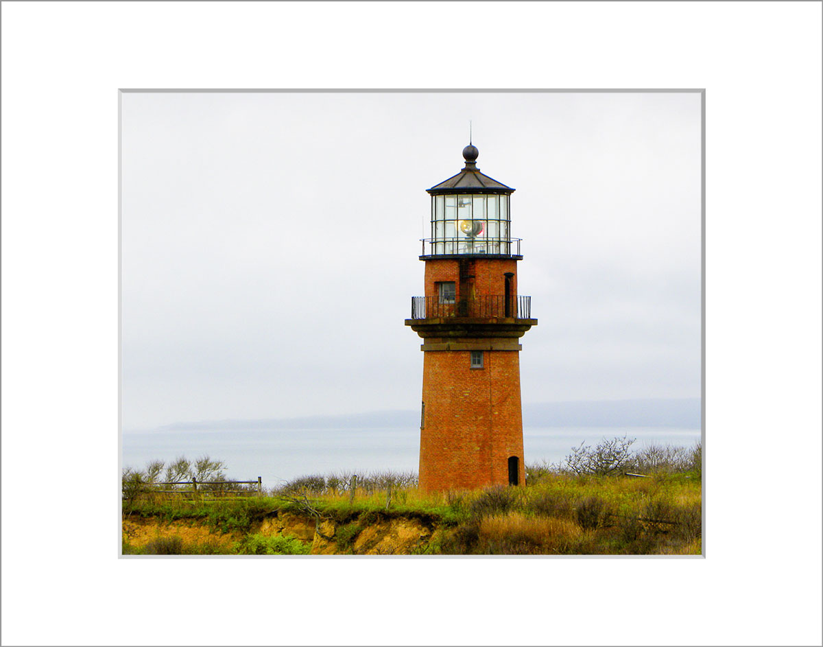 Matted 8x10 Photo: Gay Head Lighthouse Close Up