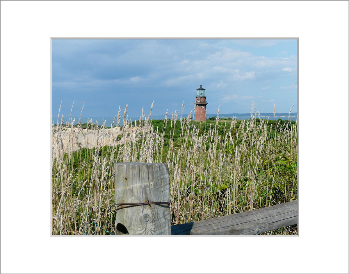 Matted 8x10 Photo: Gay Head Lighthouse and Cliffs