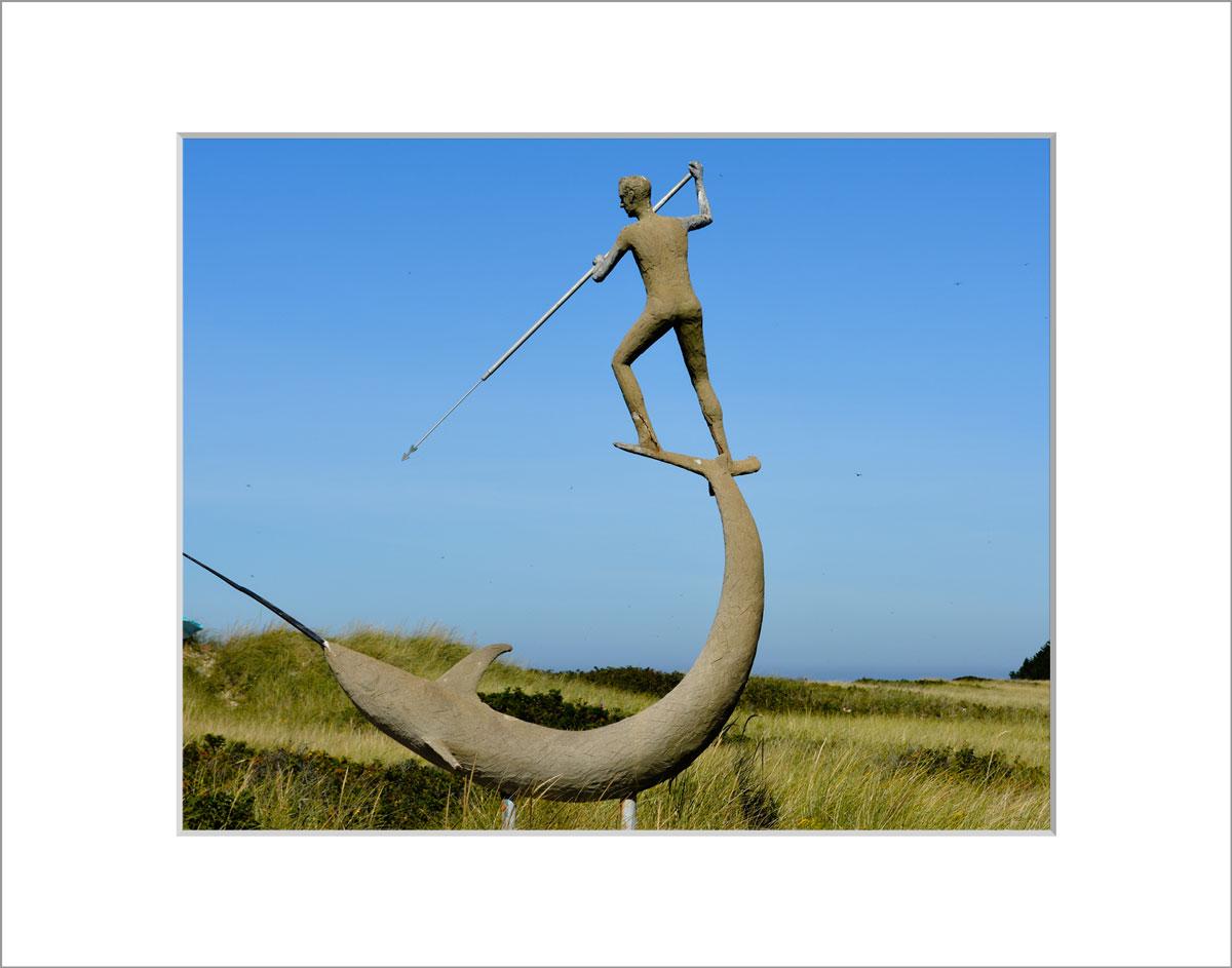 Matted 8x10 Photo: Swordfish Statue Menemsha