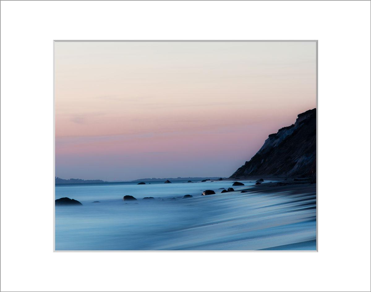 Matted 8x10 Photo: Aquinnah Cliffs Sunset