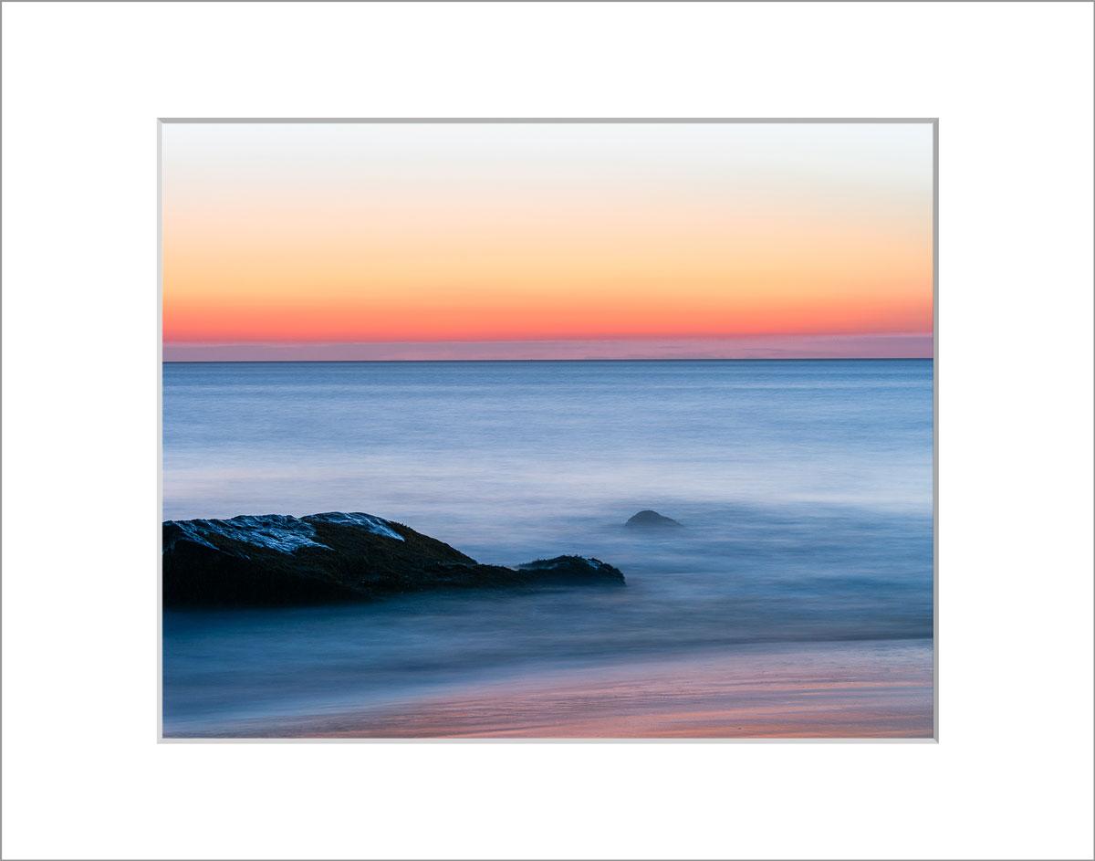 Matted 8x10 Photo: Aquinnah Rocks Sunset
