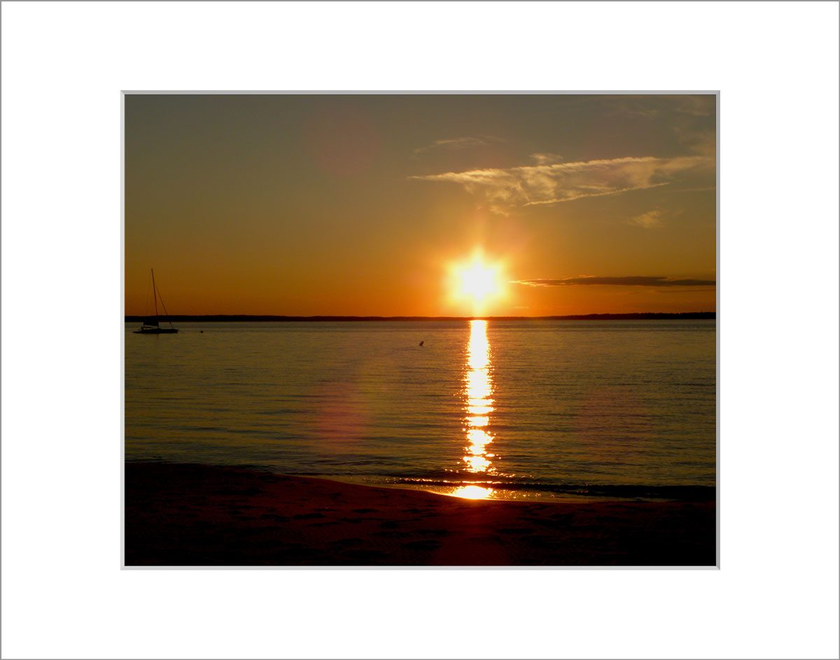 Matted 8x10 Photo: Lambert's Cove Star Sunset