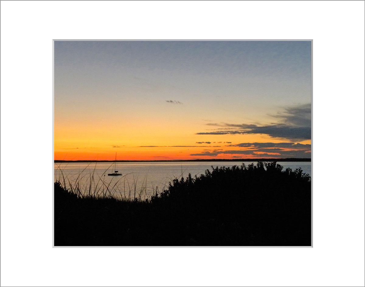 Matted 8x10 Photo: Lambert's Cove Sunset
