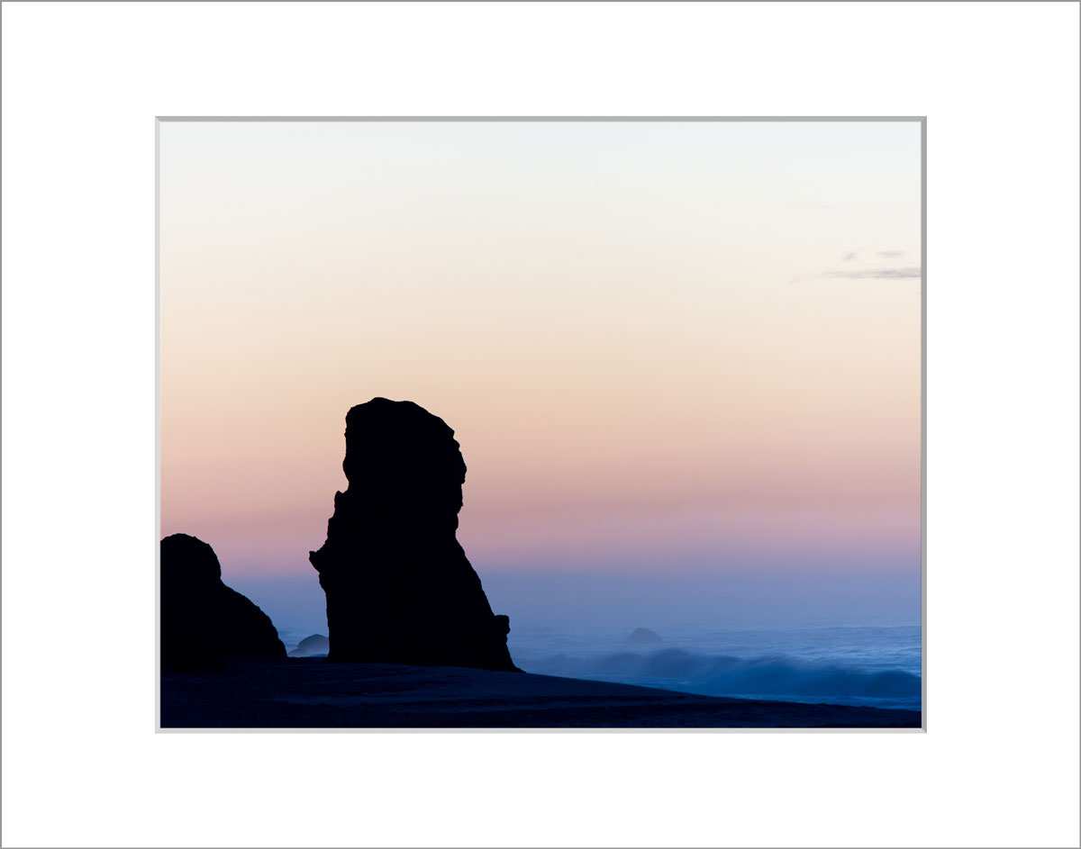 Matted 8x10 Photo: Lucy Vincent Sunrise Over Cliff