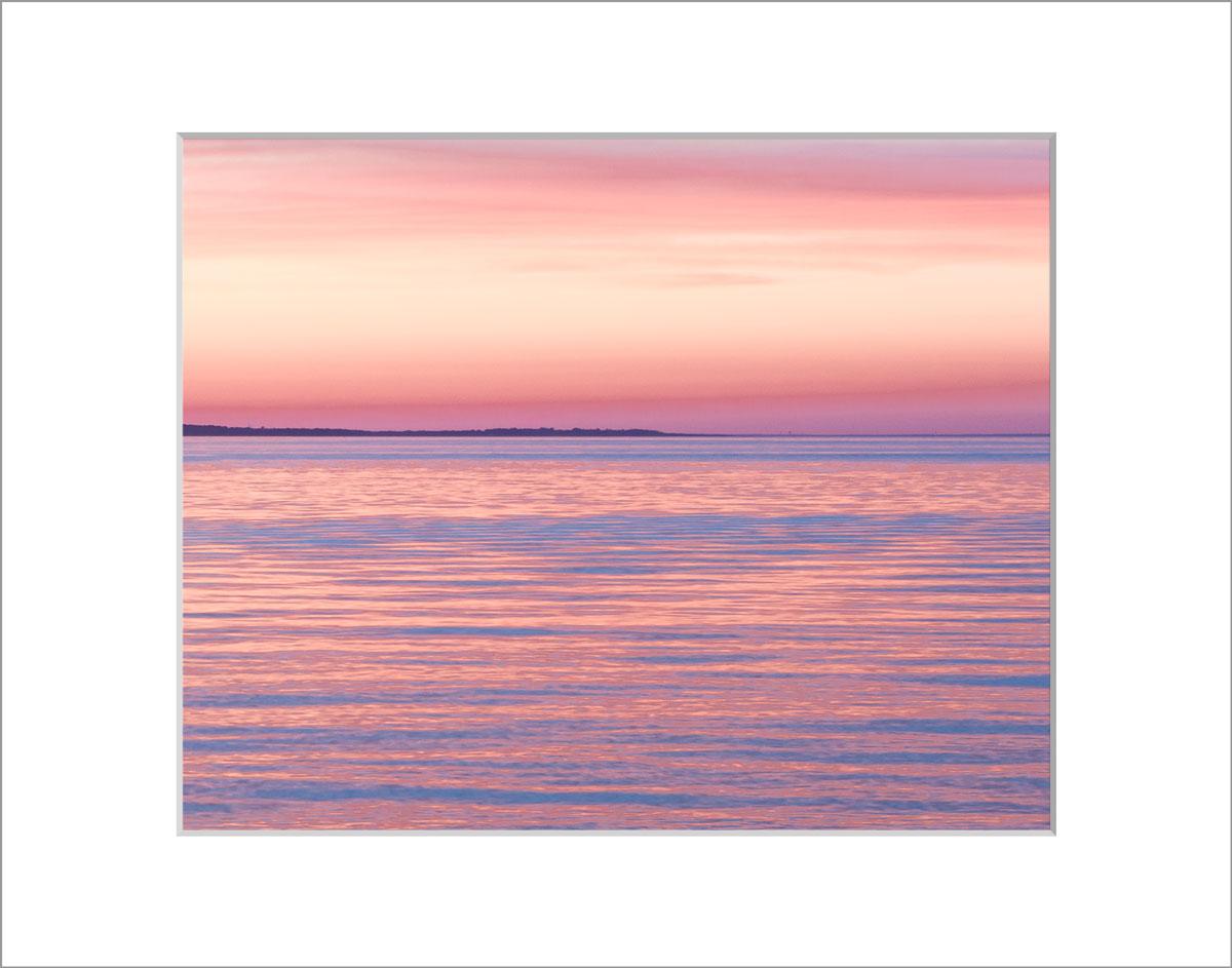 Matted 8x10 Photo: Menemsah Pink and Orange Sunset