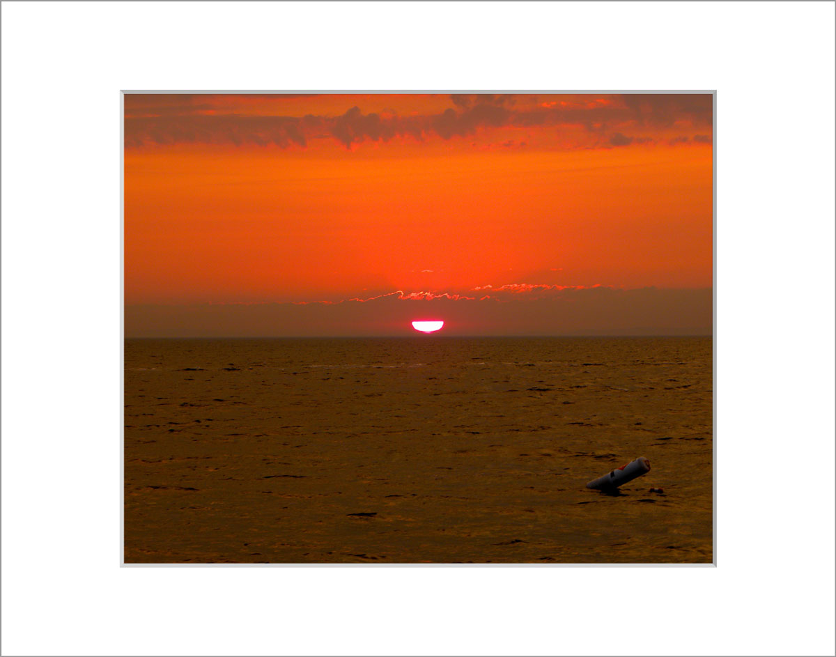 Matted 8x10 Photo: Menemsha Sunset Orange