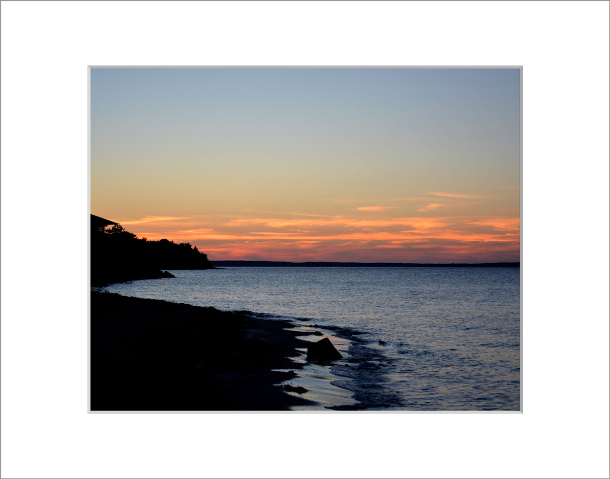 Matted 8x10 Photo: Sunset Makonikey