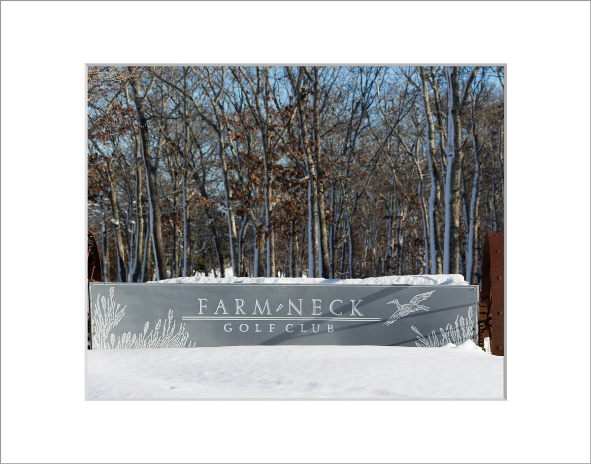 Matted 8x10 Photo: Farm Neck in Winter