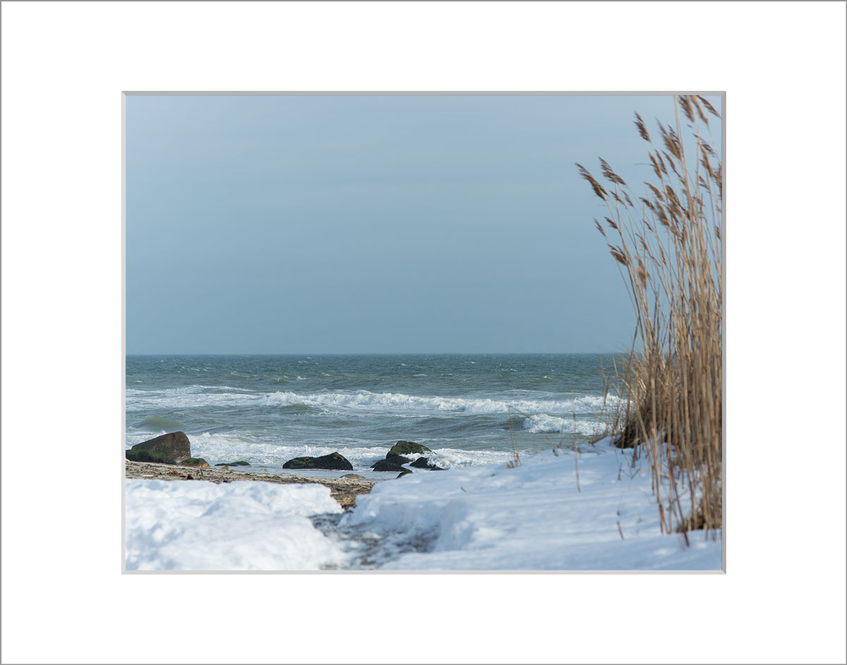Matted 8x10 Photo: Lucy Vincent Beach Snow