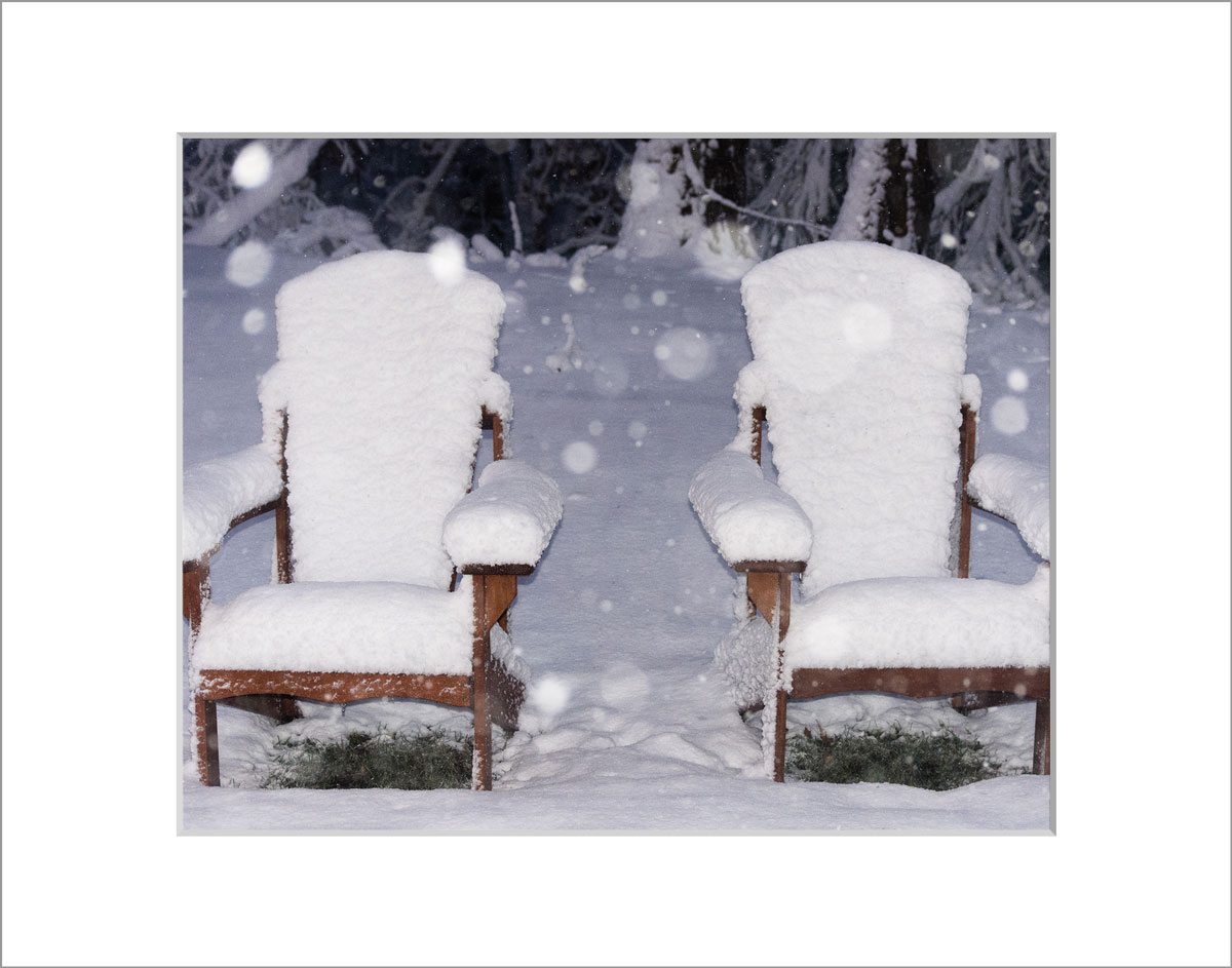 Matted 8x10 Photo: Snowy Adirondacks